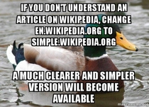 Actual Advice Mallard Wikipedia hack