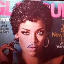 Added a mustache and Rihanna became Prince
