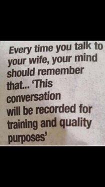Advice for married people