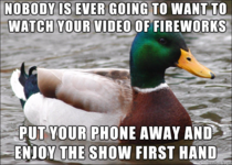 Advice for those of us going to fireworks displays tonight