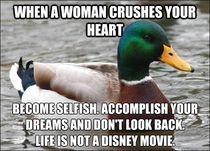 Advice Mallard knows how to deal with getting dumped
