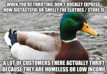 After an hour at the Salvation Army I noticed this annoying habit a lot of  teens express while thrifting