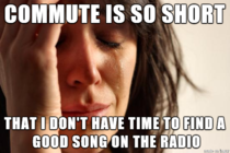 After going from a -minute commute to a -minute commute