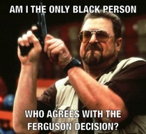 After going through my new feed I feel like Im the only one who agrees with the Ferguson decision