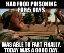 After having food poisoning for the past  days