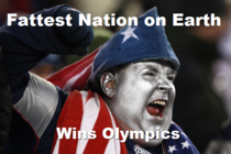 After hearing America won the most medals again