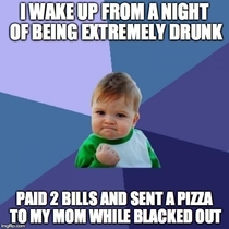 After hearing horror stories of people spending money while drunk I am pretty proud of myself