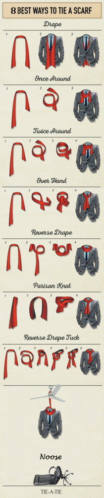 After how to tie a tie here is how to tie a scarf