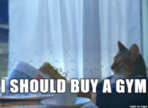 After learning that  of people with gym memberships never use them