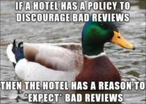 After reading about the hotel that fines guests for bad reviews online