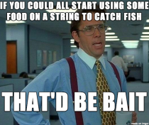 After seeing so many people trying to catch fish with naked hooks this weekend