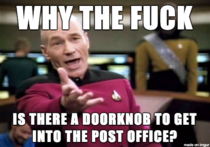 After struggling to open the door with  packages in my arms