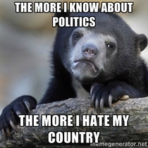 After studying American politics