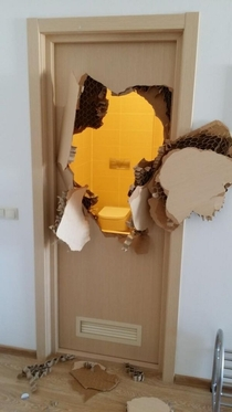After the bathroom door jammed and wouldnt unlock in Sochi American bobsledder Johnny Quinn had to break down the door