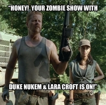 After the commercial break the wife yells for me x-post from rTheWalkingDead