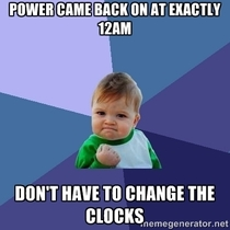 After the severe thunderstorms knocked out my power at pm