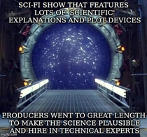 After the sloppy science in Arrow Marvel Agents of Shield Pacific Rim and other recent sci-fi shows and movies anyone remember Good Guy Stargate