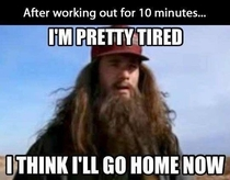 After working out for about  minutes