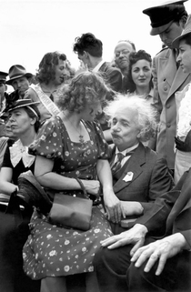 Albert Einstein calculating how to get some booty