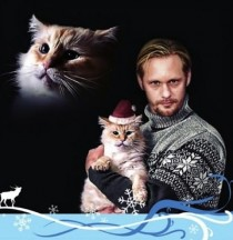 Alexander Skarsgrd and his cat