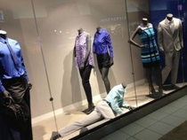 All the other mannequins look like theyre just done with the ones melodramatic crap