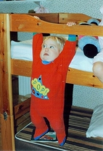 All top bunk kids knew that letting go meant an inevitable plummet to your death