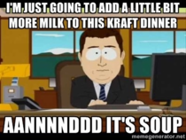Almost every time I make Kraft dinner