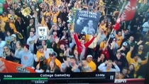 Alright which one of you was at College Gameday yesterday