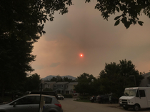 Alright who got spooky red sun bc of mountain fires on their  bingo card