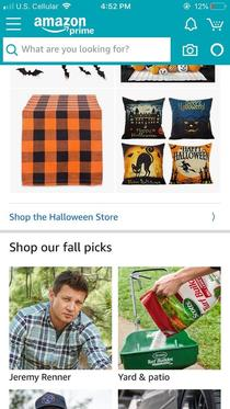 Amazon is trying to sell Jeremy Renner to my wife