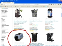 Amazon search for Baby Carrier