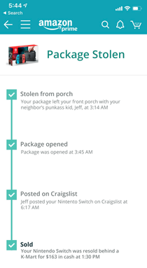 Amazon will now let customers track packages upon delivery theft