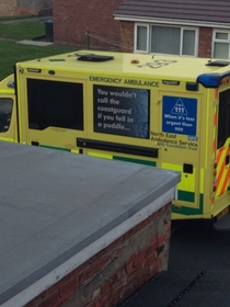 Ambulances are getting pretty sassy these days