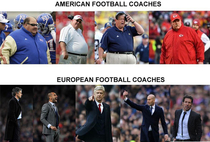 American football coaches vs European football coaches