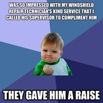 An act of kindness that surely didnt go unnoticed