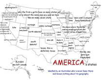 An Australian was asked to label the  states