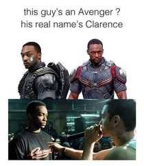 And Clarence lives at home with both parents