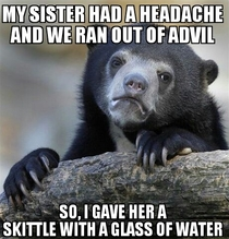 And her headache was gone after that