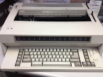 and here is the typewriter youll be using Words you dont expect to hear when starting a job in