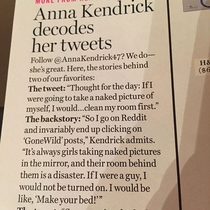 Anna Kendrick addresses rgonewild