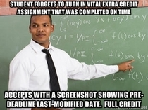 Another balance to all the scumbag teacher memes