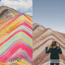 Another Instagram spot that doesnt look the same in reality - Rainbow Mountain in Peru