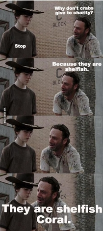 Another Walking Dead father-son bonding moment