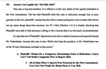 Anyone can legally say Eat Shit Bob - My favorite part of the brief filed by the ACLU on behalf of Jon Oliver