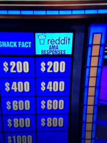 Anyone catch this category on Jeopardy tonight