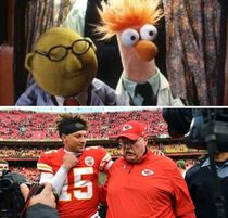 Anyone else notice Andy Reid and Pat Mahomes look like Bunsen and Beaker