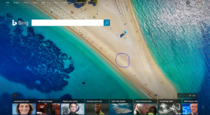 Anyone else noticed the giant penis drawn in the sand on the bing homepage