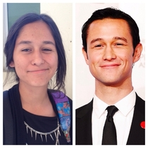 Anyone else think my friend looks like the female version of Joseph Gordon-Levitt
