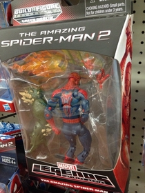 apparently I caught Spider-Man having some alone time in the toy aisle last night