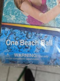 Apparently some adults arent qualified to handle a beach ball